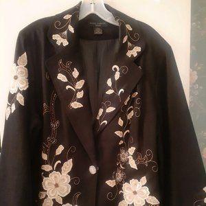 Anne Carson Blazer Style Embroidered Dress Jacket